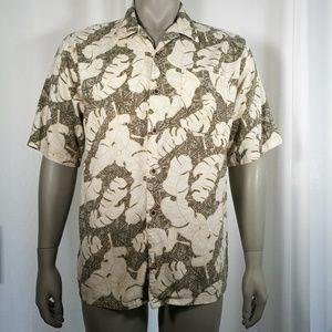OP Sport Hawaiian Palm Shirt Size Large